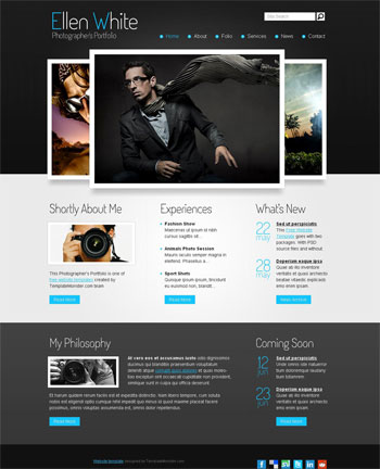 free photography website templates - photography free web template plantillas web gratis